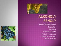 Alkoholy fenoly