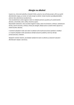 Aktualita z 31.12.2014 - Alergie na alkohol ZDE