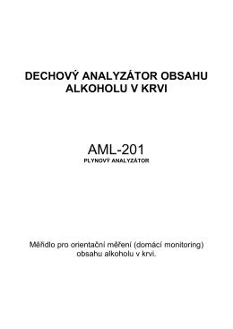 DECHOVÝ ANALYZÁTOR OBSAHU ALKOHOLU V KRVI
