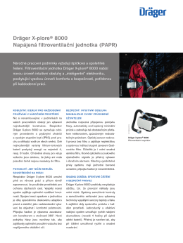 Product information: Dräger X
