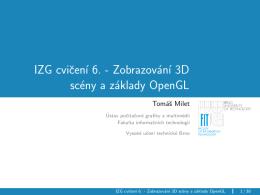 IZG cvicení 6. - Zobrazování 3D scény a základy OpenGL