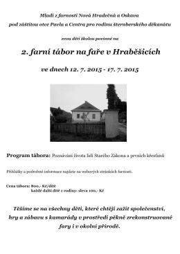 2. farní tábor na faře v Hraběšicích