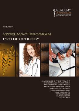Pozvánka - Česká neurologická společnost