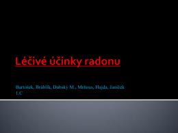 Radon – léčebné účinky