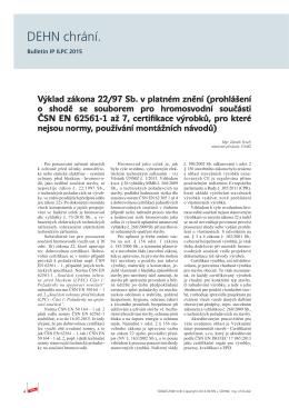 Výklad zákona 22/97Sb.