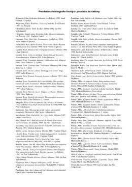 Přehledová bibliografie finských překladů do češtiny
