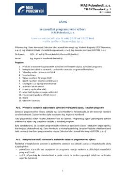 Zápis programového výboru 2015_09_09