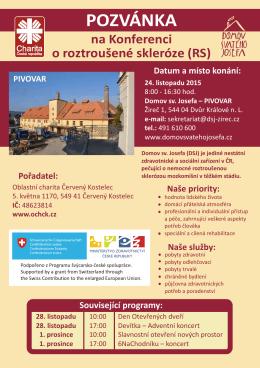 Pozvánka na konferenci o roztroušené sklerózePDF