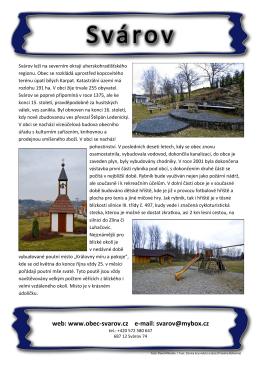 web: www.obec-svarov.cz e