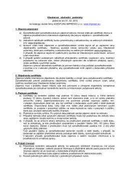 Všeobecné obchodní podmínky platné ke dni 01. 03. 2015 ke