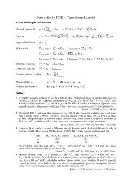 Šesté cvičení z FCH2 – Termodynamika směsí