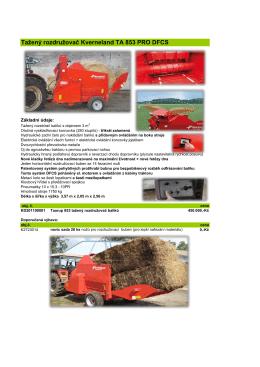 Tažený rozdružovač Kverneland TA 853 PRO DFCS