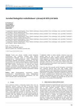 Aerobní biologická rozložitelnost vybraných