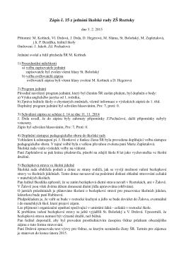 Zápis z jednání 3. 2. 2015