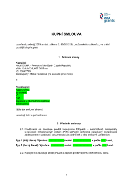 Kupní smlouva Brno - Hnutí Duha Olomouc