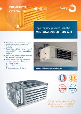 Teplovzdušná plynová jednotka Minigaz Evolution MH