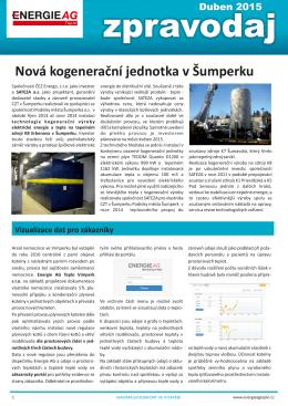 Nová kogenerační jednotka v Šumperku