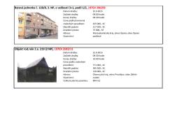 Bytová jednotka č. 128/8, 3. NP, o velikosti 3+1, podíl 1/2, 197EX