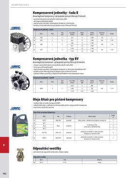 Kompresorová jednotka - typ BV Kompresorové jednotky