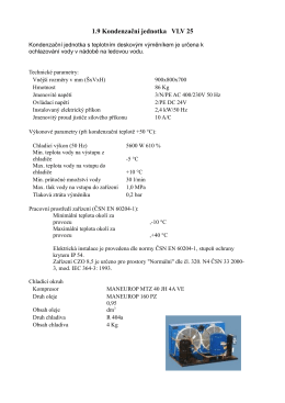 1.9 Kondenzační jednotka VLV 25