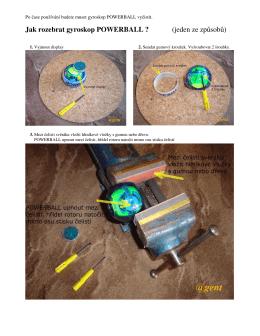 Jak rozebrat gyroskop POWERBALL ? (jeden ze - emil