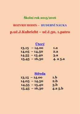 p.uč.J.Kubricht – uč.č.30, 1.patro
