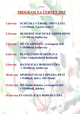 PROGRAM NA ČERVEN 2015 - Domov seniorů Havířov
