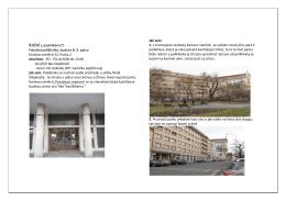 "Kožní (""kachlíkárna"") Fakultní poliklinika, budova B, 3. patro Karlovo"