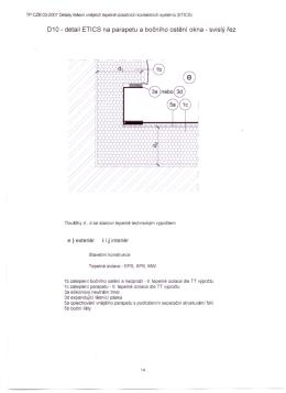 010 - detail ETICS na parapetu a bočního ostění okna