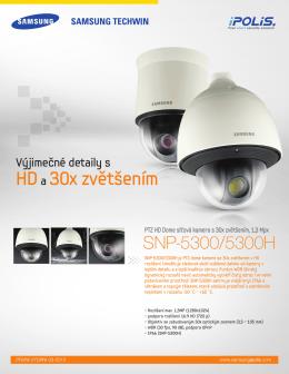 Katalogový list kamer SNP-5300P_HP Jazyk: Český Verze: Velikost