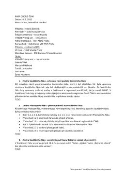 RADA ODDÍLŮ ČSAR Datum: 8. 3. 2015 Místo: Praha, Senovážné
