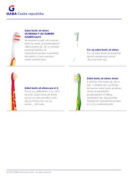 Zubní kartá_ek elmex OCHRANA P_ED ZUBNÍM KAZEM