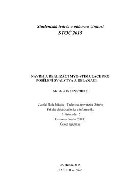 Návrh a realizace myostimulace pro posílení svalstva