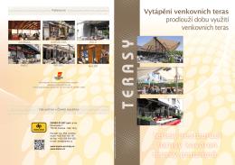 terasy restaurací terasy kaváren terasy penziónů ů