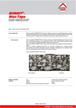 strana 193 ze 196 Krycí pás z polymerové živice pro praskliny v
