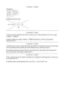 11.malý test – 6.ročník 1)Vypočítej: 75° 22´  107° 21´= 127° 23´−118