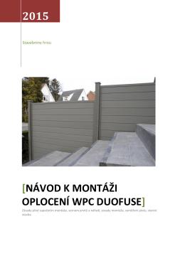 návod k montáži plotu DuoFuse