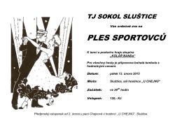 Ples sportovců TJ Sokol Sluštice