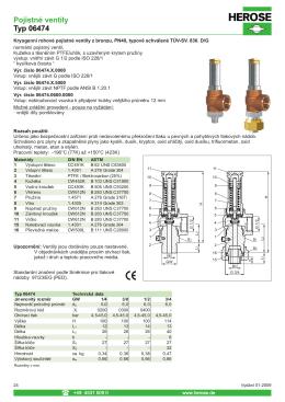 Pojistné ventily Typ 06474