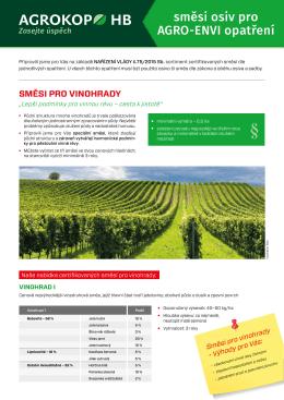 směsi osiv pro AGRO-ENVI opatření
