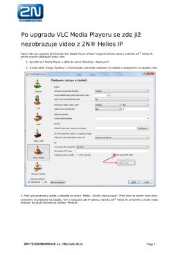 Po upgradu VLC Media Playeru se zde již nezobrazuje