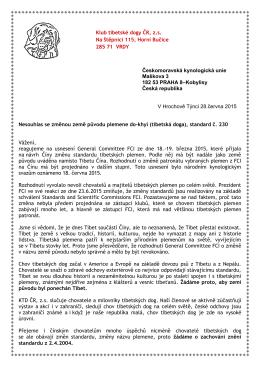 ZDE - Klub tibetské dogy ČR