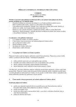 INFORMACE PRO UŽIVATELE UNIDROX 600 mg