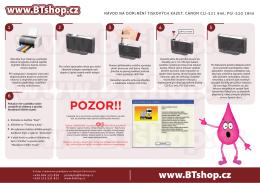 HOTOVO-Návod na doplnění tiskových kazet CANON CLI