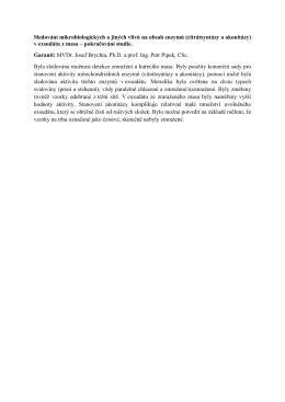 (citrátsyntázy a akonitázy) v exsudátu z masa – pokračování