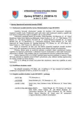 Zprávy STSST č. 23/2014-15 - Středočeský svaz stolního tenisu