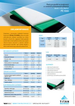polyetylenové desky PE1000 - TITAN