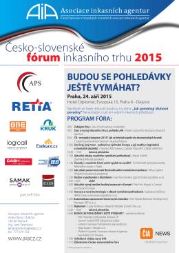 Česko-slovenské fórum inkasního trhu 2015