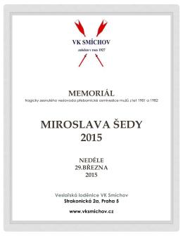 MIROSLAVA ŠEDY 2015 - Český veslařský svaz