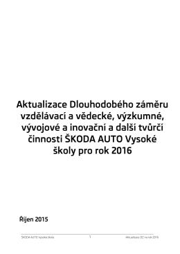 Aktualizace DZ 2016